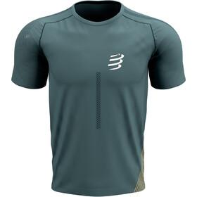 Compressport Performance SS T-shirt Herrer, petroleumsgrøn